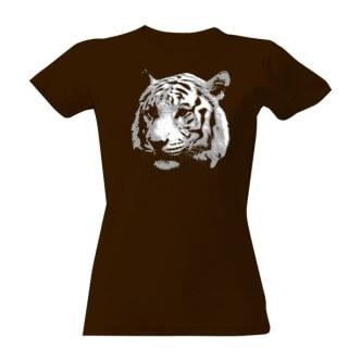 Dámské tričko s potiskem tygr