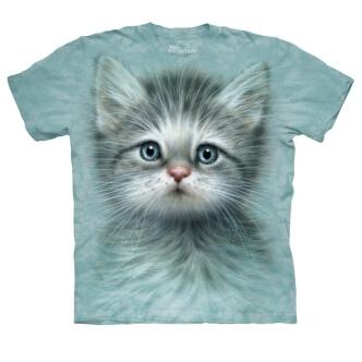 Tričko s potiskem Kočka s modrýma očima