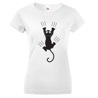 Tričko s potiskem Kočka s ostrými drápky