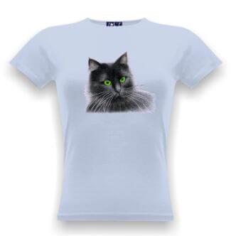 Triko s obrázkem černé kočky