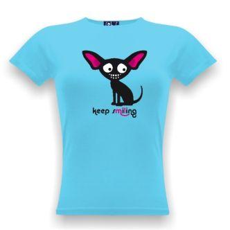 Tričko s vtipným potiskem Čivava keep smiling