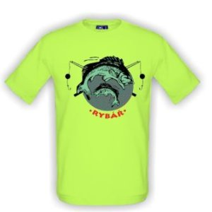 Tričko s potiskem rybář