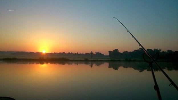 Rybaření při východu slunce