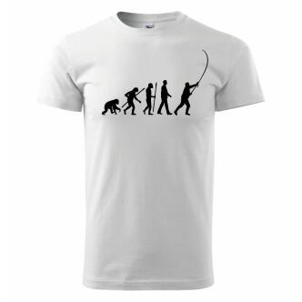 Tričko s potiskem Rybářská evoluce