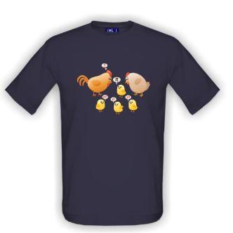 Tričko s potiskem Chytré kuře