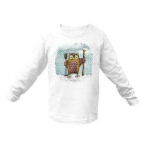 Dětské tričko se sovou lyžařkou
