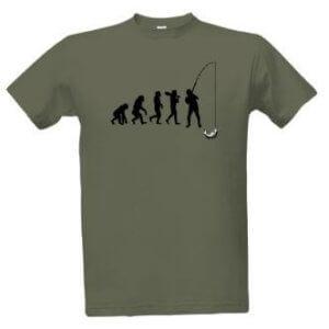 Tričko s potiskem Evoluce rybář
