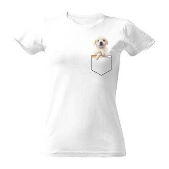 Tričko s potiskem Pes v kapse