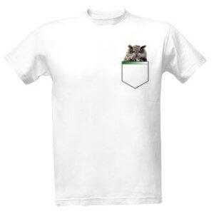 Tričko s potiskem Sova vkapse