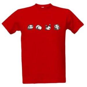 Tričko s potiskem Panda dělá kotoul