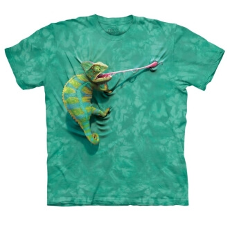 Tričko s potiskem chameleon