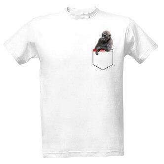 Tričko s potiskem Gorila vkapse