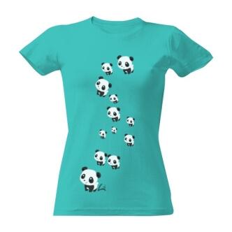 Tričko s potiskem pand
