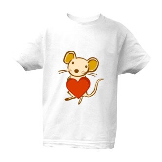 Dětské tričko s potiskem myška