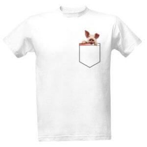 Tričko s potiskemPrasátko vkapse