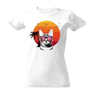 Tričko s obrázkem kočky Summer king