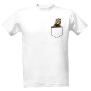 Tričko s potiskemLev v kapse