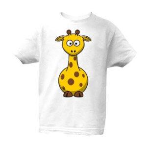 Dětské tričko s potiskem žirafa