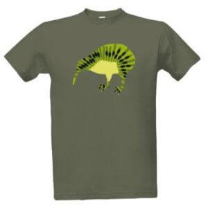 Tričko s potiskem ovoce kiwi jako pták kivi