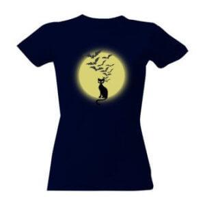 Tričko s potiskem Strašidelná kočka