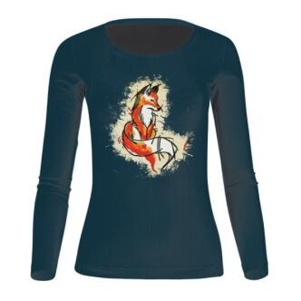 Dámské tričko s potiskem lišky