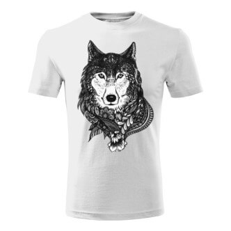 Tričko s potiskem Černý vlk
