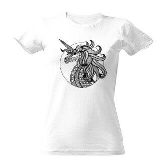 Vybarvovací tričko s potiskem Jednorožec