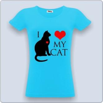 Tričko s potiskem I love my cat