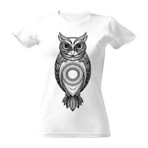 Tričko vybarvovací sova