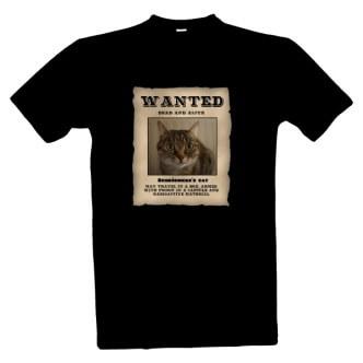 Tričko s potiskem Schrödingerova kočka