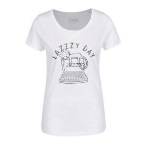 Dámské tričko s potiskem Lazy day