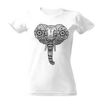 Tričko vybarvovací Slon