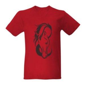 Tričko s potiskem motiv koně