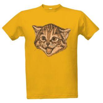 Tričko s potiskem Usměvavá kočka