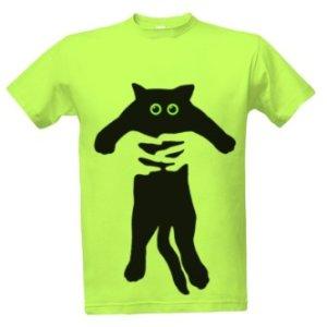 Tričko s potiskem Držím kocoura