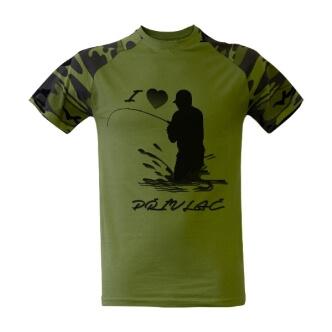 Rybářské triko s potiskem přívlač