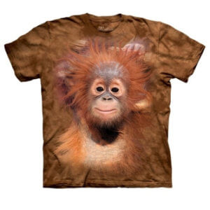 Tričko s potiskem Mládě orangutana