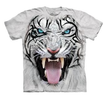 Tričko s potiskem Bílý tygr