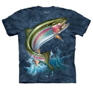Rybářské triko s potiskem Duhový pstruh
