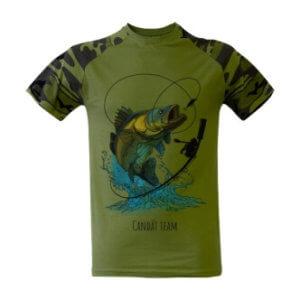 Rybářské triko s potiskem Candát team