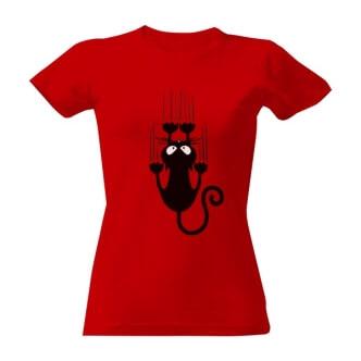 Dámské triko s potiskem Kočka na tričku
