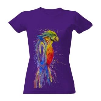 Tričko s potiskem Barevný papoušek