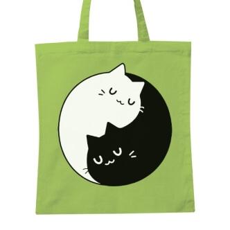Taška s potiskem koček Jin a jang