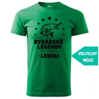 Tričko pro rybáře s potiskem Rybářské legendy