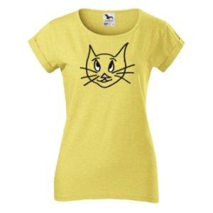 Dámské tričko s potiskem Kočička