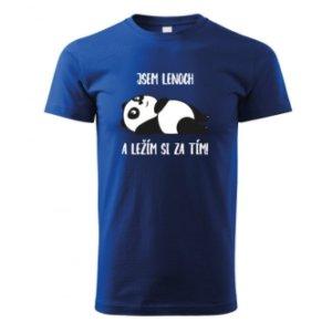 Dětské tričko s potiskem pandy Jsem lenoch