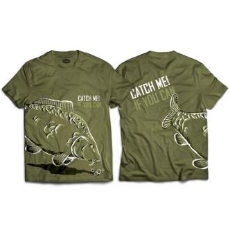 Rybářské tričko s potiskem kapr Catch me! If you can