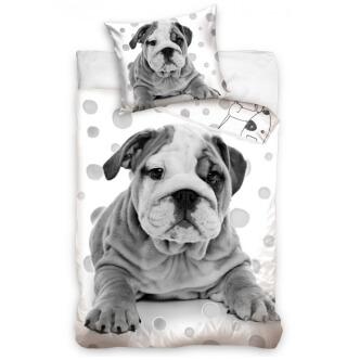 3D bavlněné povlečení pes Buldoček 140x200