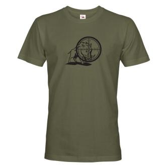 Myslivecké tričko s potiskem Divočák