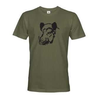 Tričko pro myslivce s potiskem Prase divoké
